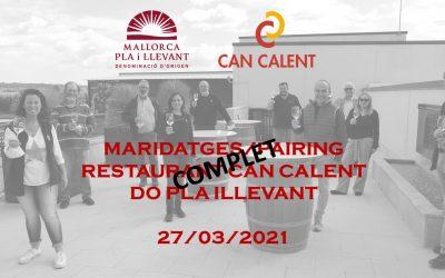 Maridajes del restaurant Can Calent con los vinos de la DO Pla i Llevant. (1)