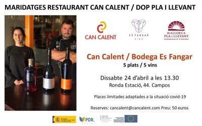 Maridaje Restaurant Can Calent / Bodega Es Fangar. (3)