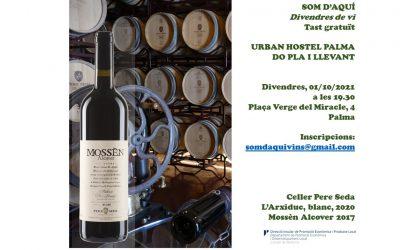 Cata de vinos de la bodega Pere Seda en el Urban Hostel Hotel de Palma.