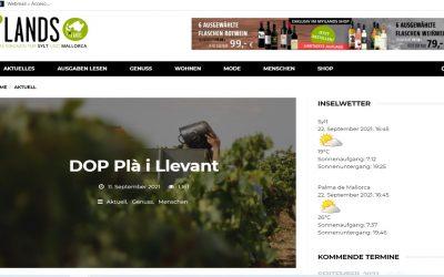 La revista alemana My Ilands publica artículos sobre el Pla i Llevant y le abre su tienda de vinos online.