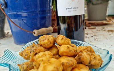 Cazón en adobo con el vino Picot Blanc (Vi d'auba). La cocina de Lydia E. Corral. (9)