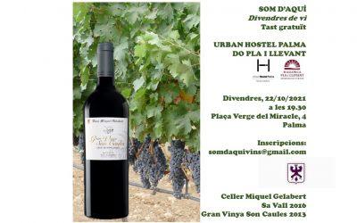 Cata de vinos de la bodega de Miquel Gelabert en el Urban Hostel de Palma.